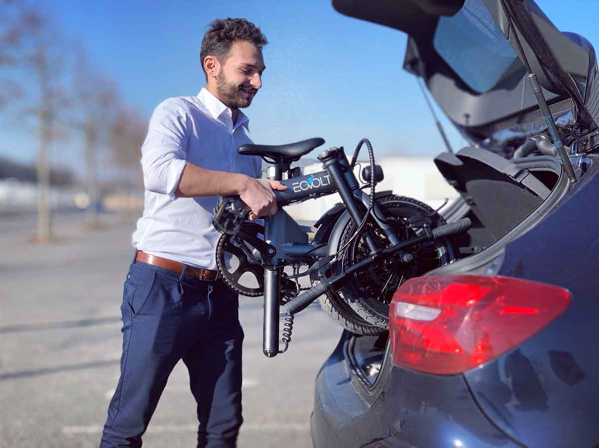 Foldable electric bike - Caravan, tent, campervan